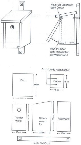 bauanleitungen f r nistk sten bund naturschutz in bayern e v. Black Bedroom Furniture Sets. Home Design Ideas